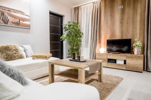 Ein Sitzbereich in der Unterkunft Budapest Center Apartments Dave