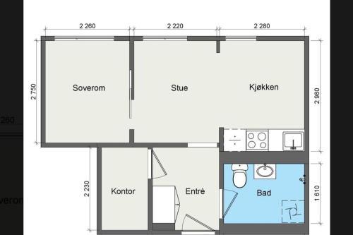 The floor plan of Oslo´s best kept secret