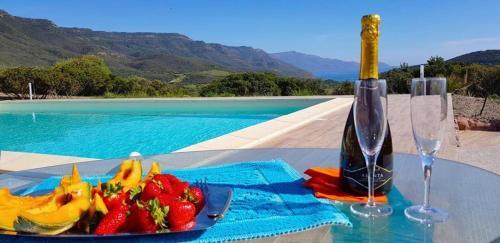 The swimming pool at or near Villa Dama luxury