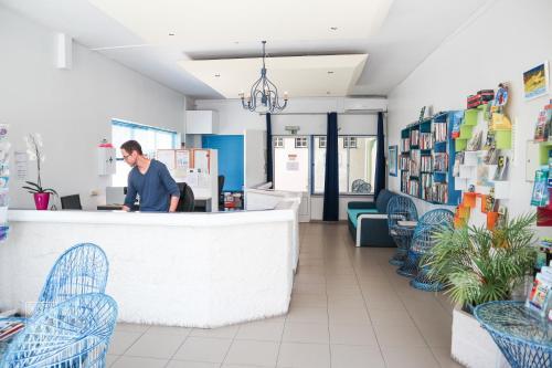 The lobby or reception area at Apartamentos Sereia da Oura