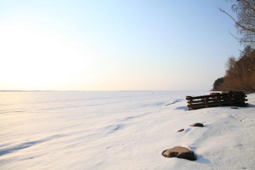 Пляж на территории шале или поблизости