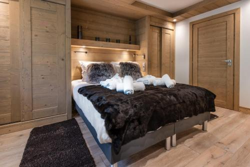 A bed or beds in a room at Annapurna