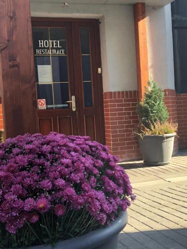 The facade or entrance of Hotel na Kafkové