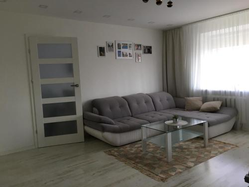 A seating area at Trakų street Apartment