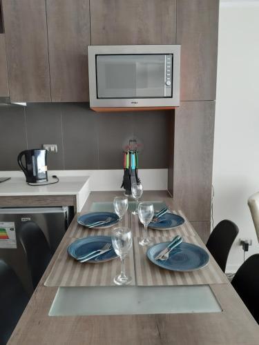 Una cocina o zona de cocina en Departamento en Ñuñoa