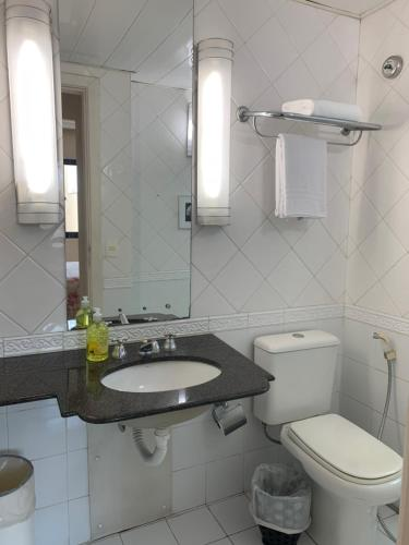 A bathroom at ApartHotel I - Av. Paulista