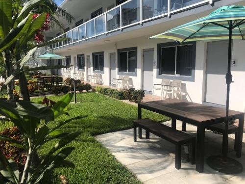 A garden outside Wave Beach Vacation Rentals
