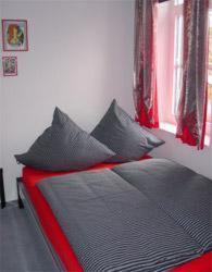 Krevet ili kreveti u jedinici u okviru objekta Hotel zur Eiche