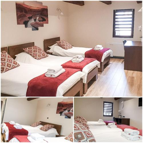 A bed or beds in a room at Stari Slon