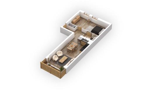 The floor plan of Résidences Ermitage