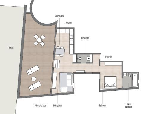 The floor plan of Casagrand Luxury Suites