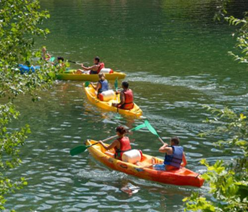 Canoeing at the chalet or nearby