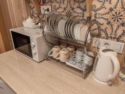 A kitchen or kitchenette at Apartment on Stavropigijska Street