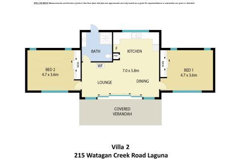 The floor plan of Valle Laguna