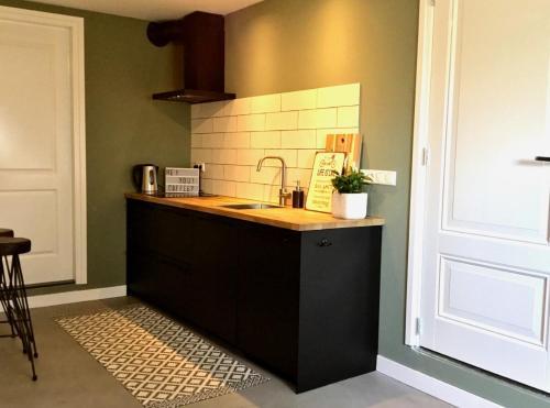 A kitchen or kitchenette at Plek 16 Appartement