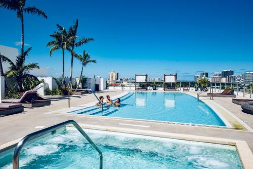 The swimming pool at or close to Acqua Bay Luxury Apartments