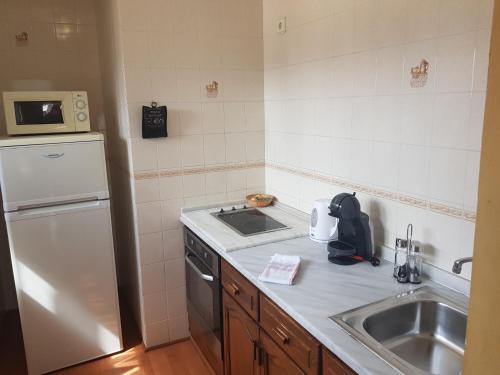 A kitchen or kitchenette at Apartamentos Parot Quality