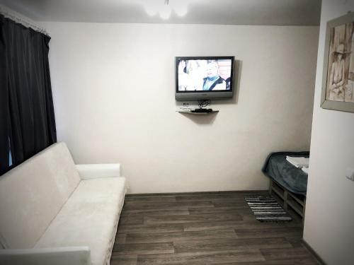 Телевизор и/или развлекательный центр в Rauschen apartments