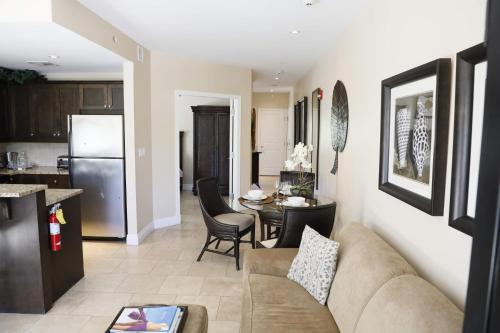 A seating area at GRACE BAY BEACH -VILLA DEL MAR RESORT -LUXURY 2 BED UNIT - Winner of EXCELLENCE!!!