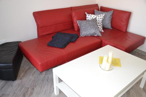 Ein Sitzbereich in der Unterkunft Pachmann Apartments