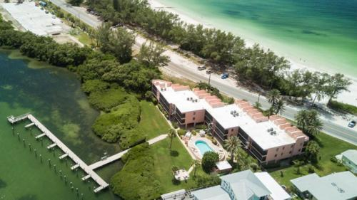 A bird's-eye view of Coquina Moorings Three Bedroom Apartment 206