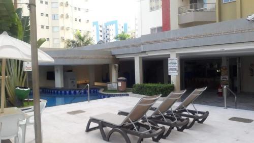 The swimming pool at or near Apartamento 301-B Privê das Thermas