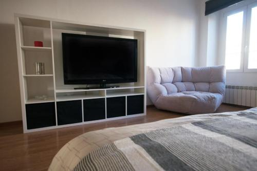 A television and/or entertainment center at A delightful new apartment close to Trieste center