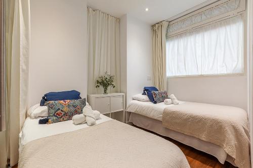 Cama o camas de una habitación en Las Rejas Apartment