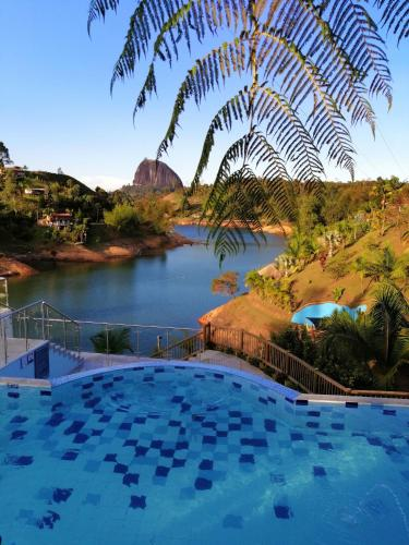 The swimming pool at or near Hotel Santa Maria de las Aguas Peñol