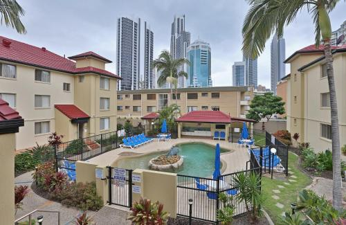 A view of the pool at K Resort Surfers Paradise Apartments or nearby
