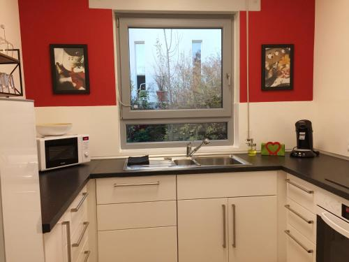 Küche/Küchenzeile in der Unterkunft Oppenheim Lofts