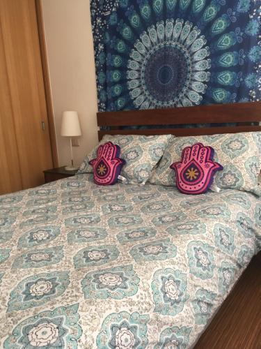 Cama o camas de una habitación en Buena Vista Zenteno