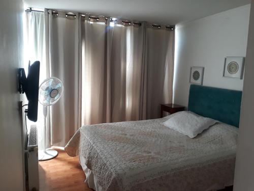 Cama o camas de una habitación en Las Condes, Apartmentos , Parque Arauco , Manquehue,