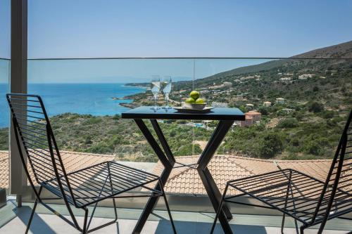 A balcony or terrace at Asteris Hotel