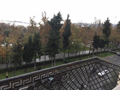 A balcony or terrace at Park Bulvar Apartment