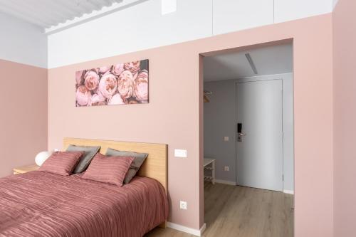 Кровать или кровати в номере Moscow Center Apart Hotel