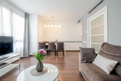 Zona de estar de Gracia Bas Apartments Barcelona