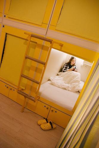 Ванная комната в Capsule Hostel Yes