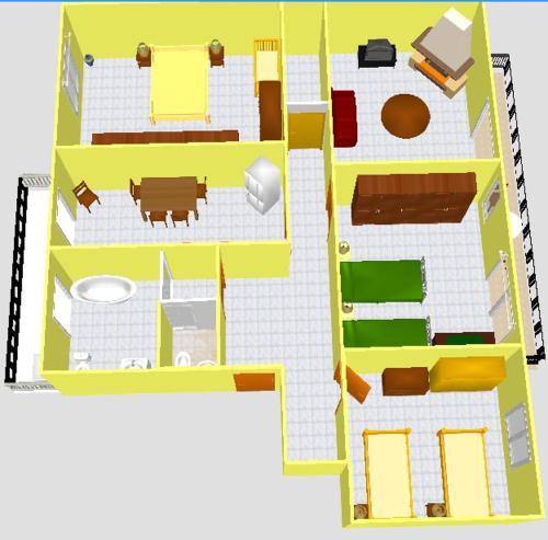 The floor plan of Difrontealmare Apartments