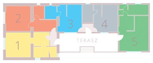 The floor plan of Szín-Ház Apartman