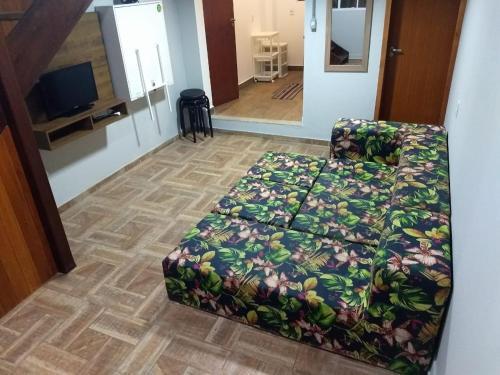 Cama o camas de una habitación en Casa Campeche Proxima ao Mar