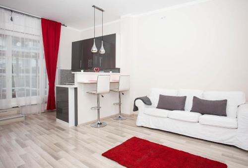 Ein Sitzbereich in der Unterkunft Madach Rooftop Apartment with terrace