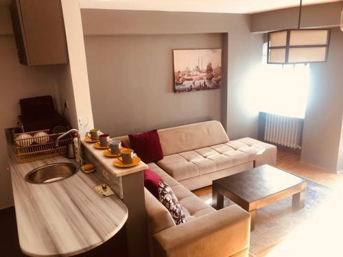 Гостиная зона в An Apartment In Heart Of Galata Tower