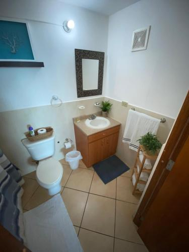 A bathroom at Rincon by the Sea Penthouse