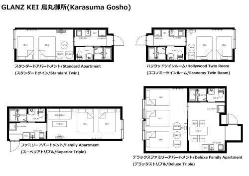 The floor plan of GLANZ KEI Karasuma Gosho