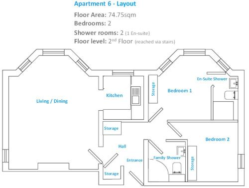 The floor plan of Bournemouth Luxury Apartment