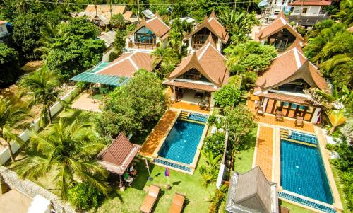 A bird's-eye view of Beachfront Villa 2 Bedrooms with Private Pool