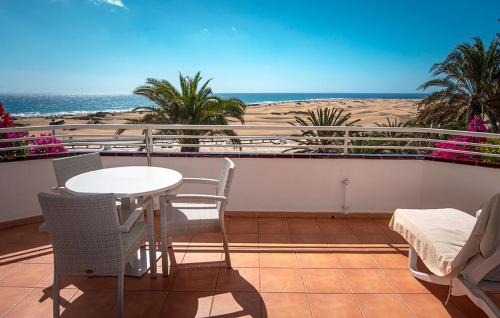 A balcony or terrace at Taboga - Adults Recommended