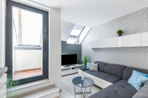 Ein Sitzbereich in der Unterkunft Royal Exclusive Apartments in Centre