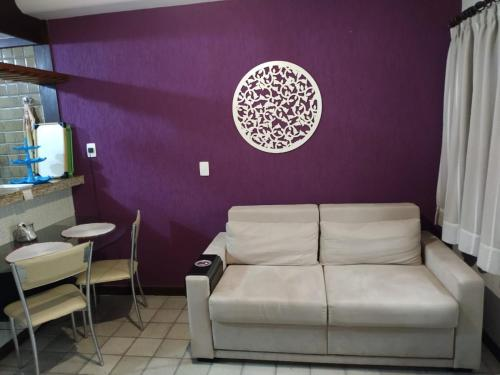 A seating area at Píer Sul Apart Hotel - Circuito do carnaval